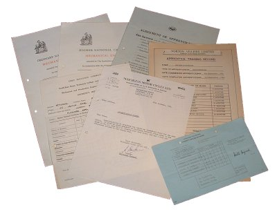 Apprenticeship documents pic