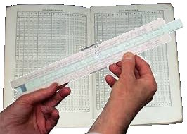 Slide rule and log tables pic