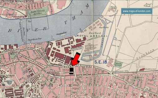 Old map of Woolwich