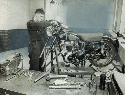 Mick Duffy in repair shop pic