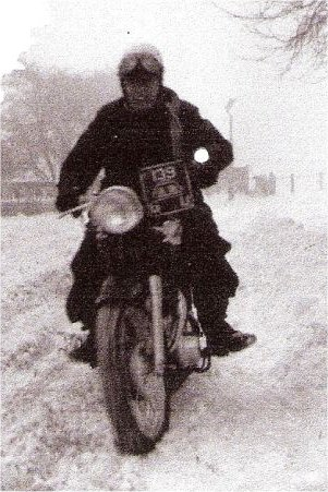 Jim Walby riding on snow pic